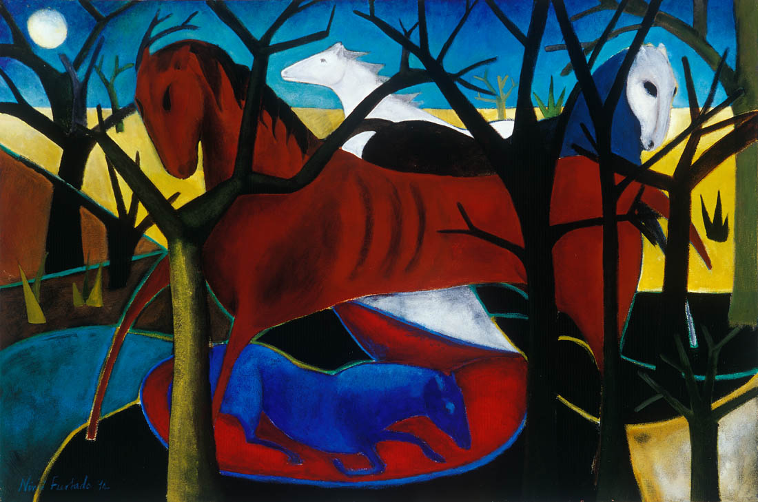 Nimi Furtado | Paintings |Early Works | The Blue Foal