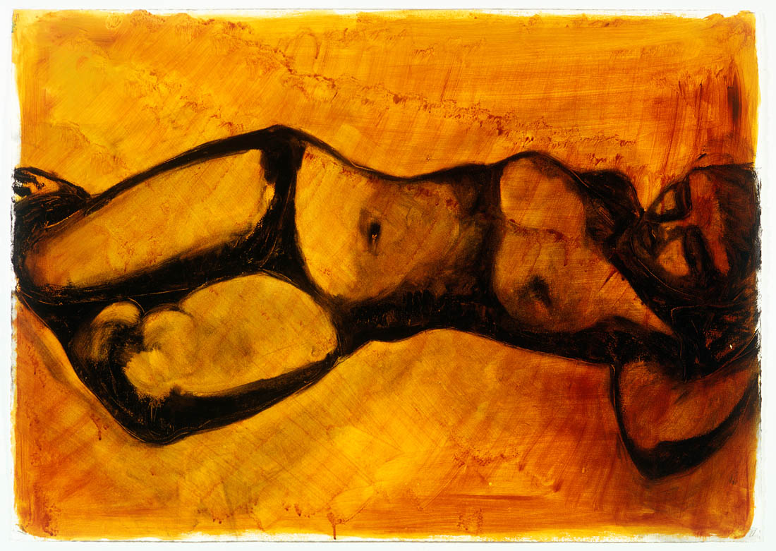 Nimi Furtado | Limited Edition Prints | Black Reclining nude