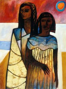 Nimi Furtado | Paintings | Early Works | Two Girls
