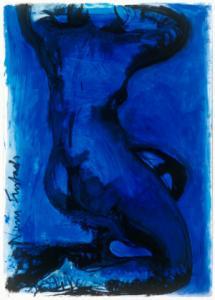 Nimi Furtado | Limited Edition Prints | Black on Blue nude